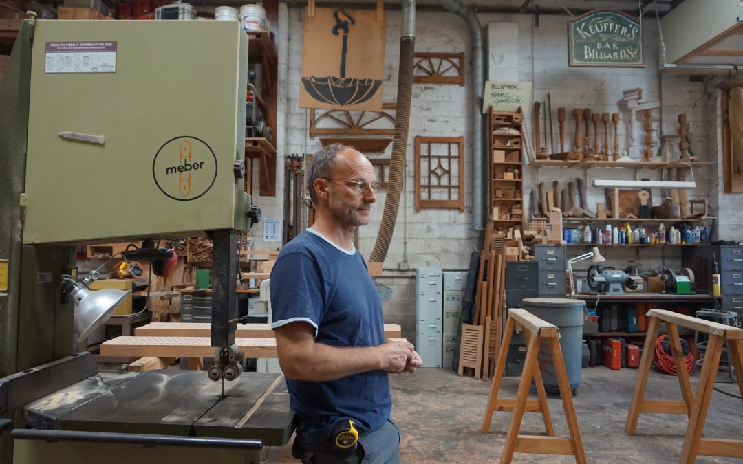 swiss woodworker heinz gautschi in his shop